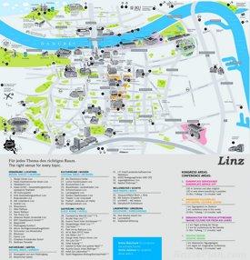 Stadtplan Linz mit sehenswürdigkeiten
