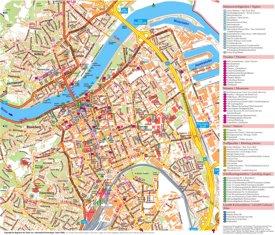 Touristischer stadtplan von Linz