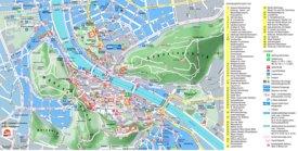 Altstadt Salzburg - Karte
