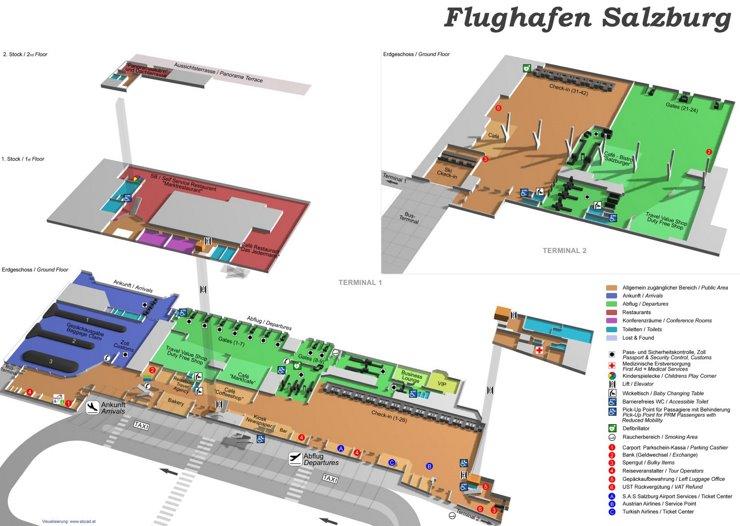 Flughafen Salzburg Plan