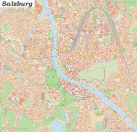 Große detaillierte stadtplan von Salzburg
