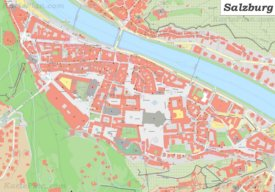 Karte von Salzburgs Zentrum