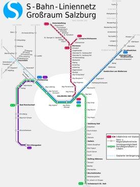S-Bahn Salzburg Netzplan