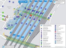 Salzburg Hauptbahnhof plan