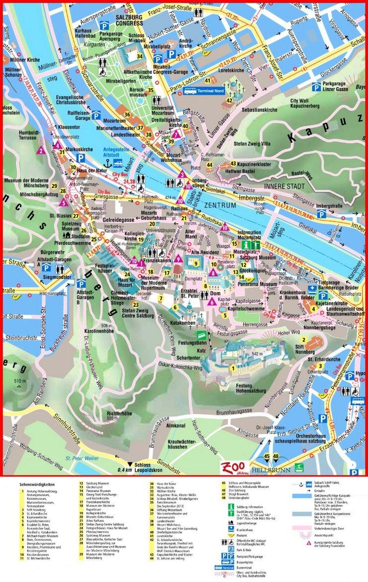 Salzburg Innenstadtplan