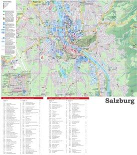 Stadtplan Salzburg mit hotels