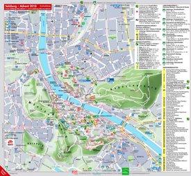 Stadtplan Salzburg mit sehenswürdigkeiten