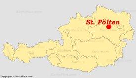 St. Pölten auf der Österreich karte