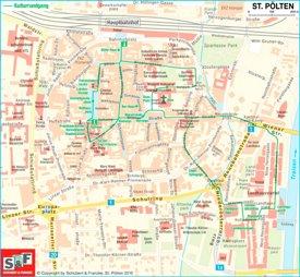 Stadtplan St. Pölten mit sehenswürdigkeiten