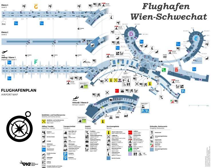 Flughafen Wien Plan