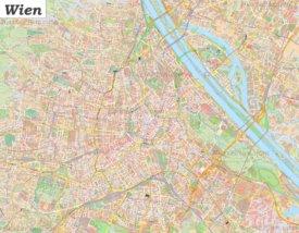 Große detaillierte stadtplan von Wien