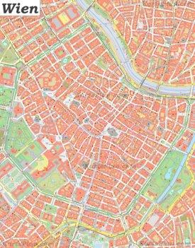 Karte von Wiens Zentrum