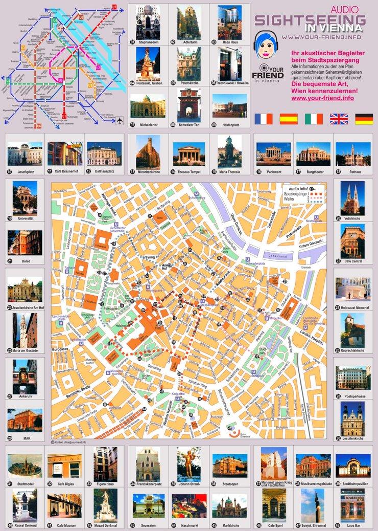 Stadtplan Wien mit sehenswürdigkeiten
