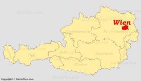 Wien auf der Österreich karte