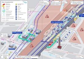 Wien Hauptbahnhof plan