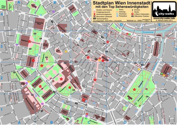 Wien Innerestadtplan
