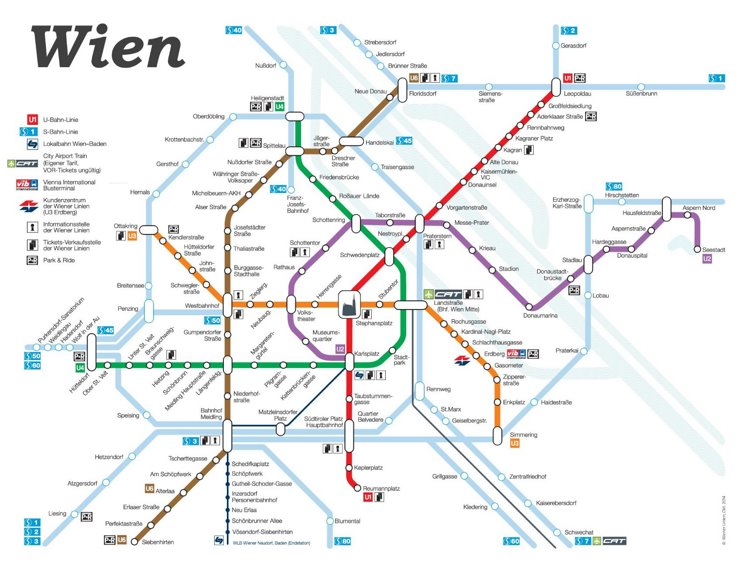 Wien S-Bahn und U-Bahn netzplan