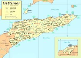 Große detaillierte karte von Osttimor