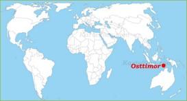 Osttimor auf der Weltkarte