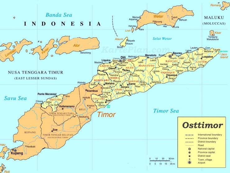 Osttimor politische karte