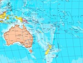 Große detaillierte karte von Ozeanien