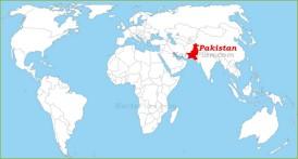 Pakistan auf der Weltkarte