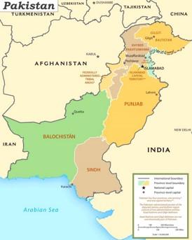 Pakistan politische karte