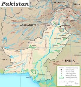 Pakistan touristische karte