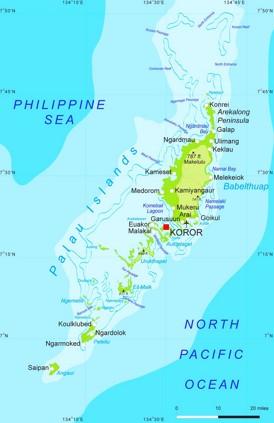 Detaillierte karte von Palau
