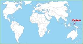 Palau auf der Weltkarte