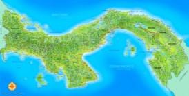 Große detaillierte karte von Panama