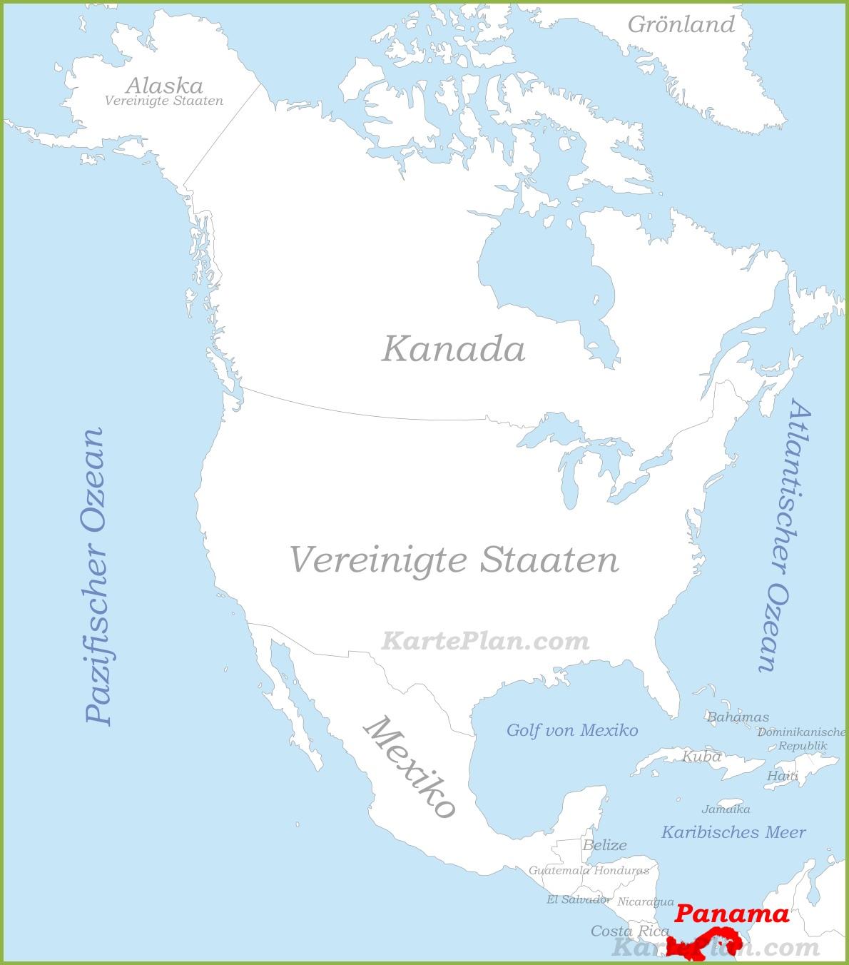 Golf Von Alaska Karte.Panama Auf Der Karte Nordamerikas