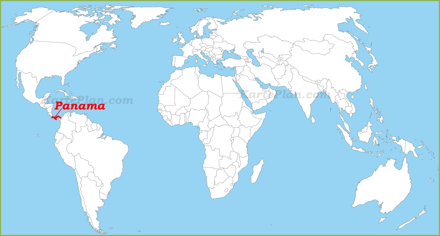 Panama Auf Der Weltkarte