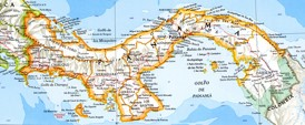 Panama karte mit Städten