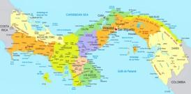 Panama politische karte