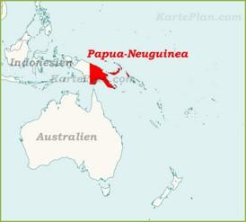 Papua-Neuguinea auf der karte Ozeaniens