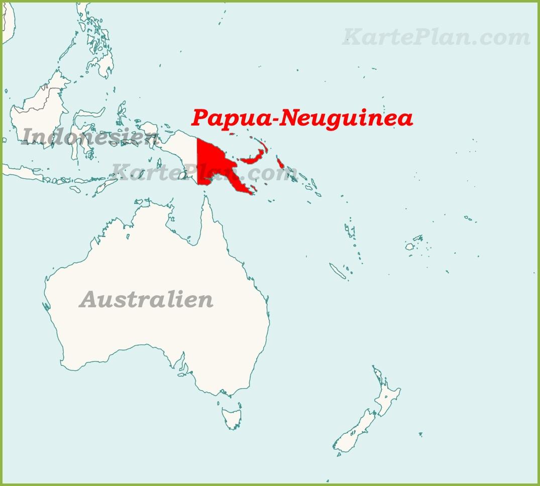 papua neuguinea karte Papua Neuguinea auf der karte Ozeaniens