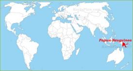 Papua-Neuguinea auf der Weltkarte