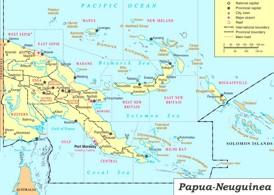 Papua-Neuguinea politische karte
