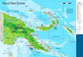 Papua-Neuguinea touristische karte