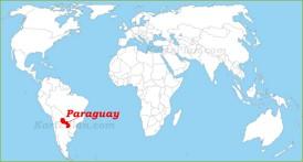 Paraguay auf der Weltkarte
