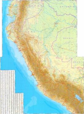 Große detaillierte karte von Peru