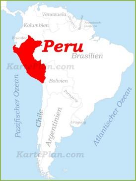 Peru auf der karte Südamerikas