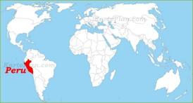 Peru auf der Weltkarte