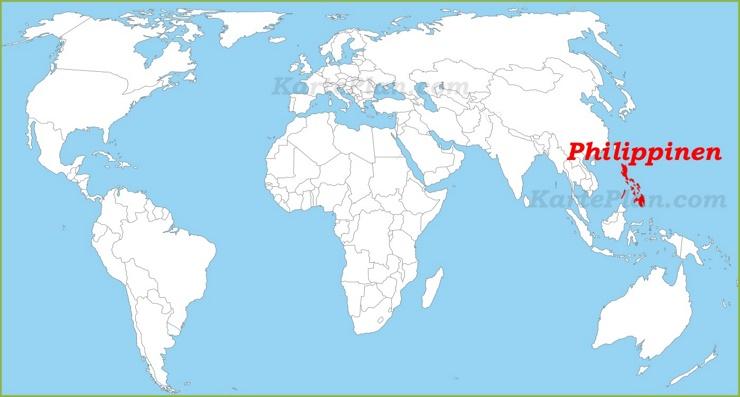 Philippinen auf der Weltkarte