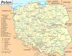 Polen politische karte