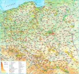 Polen touristische karte