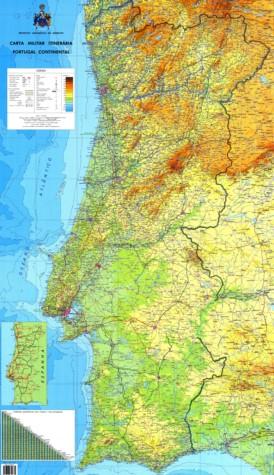 Große detaillierte karte von Portugal