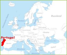 Portugal auf der karte Europas