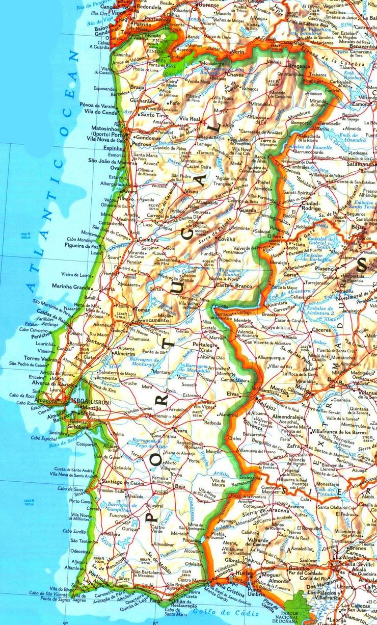 Portugal karte mit Städten